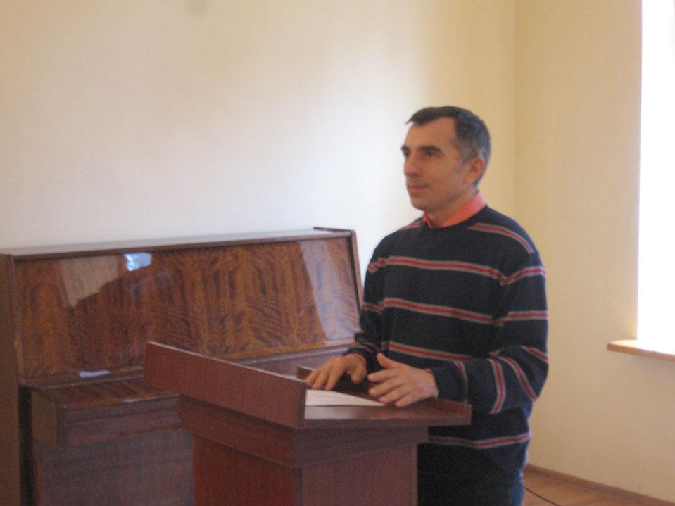 Виступає докт. іст. наук, проф. Брехуненко В.А.